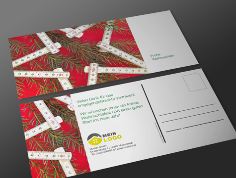 weihnachtspostkarte zollstock weihnachts postkarten. Black Bedroom Furniture Sets. Home Design Ideas