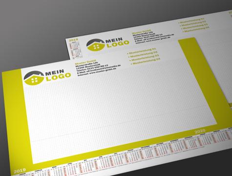 Schreibtischunterlage DIN A3 - Kalender - Reklame ...